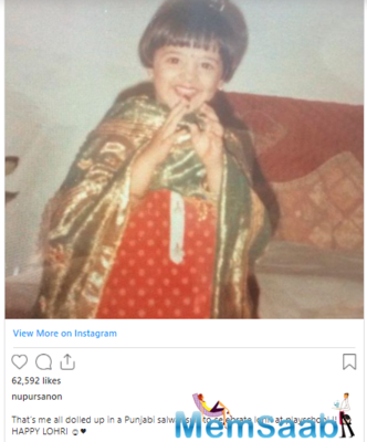 Nupur Sanon shares an adorable throwback picture