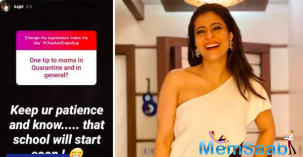 Kajol jokes about lockdown: School came home and I had to attend it with Yug