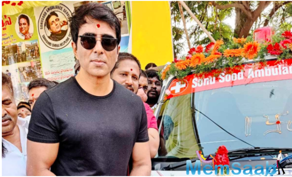 Ambulance service started in Telangana under Sonu Sood's name to help Underprivileged patients