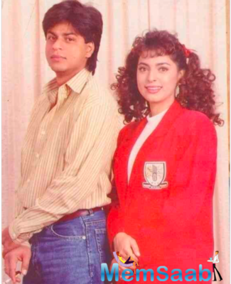 Juhi Chawla shares a throwback picture with Shah Rukh Khan on Instagram