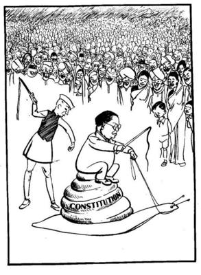 The Ambedkar cartoon on NCERT textbook