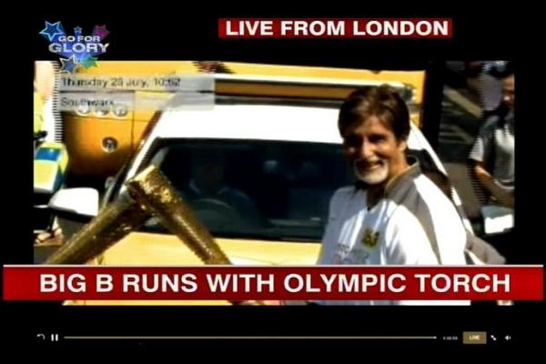 Amitabh Bachchan Carries The Torch at London Olympics!