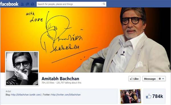 Big B now on Facebook!