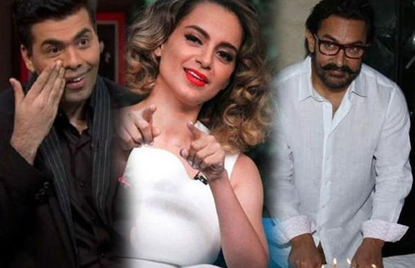 Aamir Khan REACTS To Kangana Ranaut Accusing Karan Johar Of Nepotism In Bollywood!