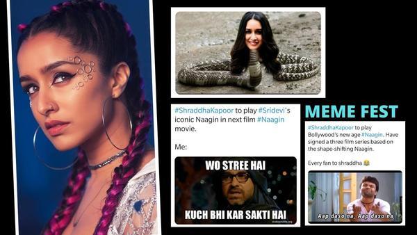 Memefest on Twitter as Shraddha Kapoor Announces Nagin Role