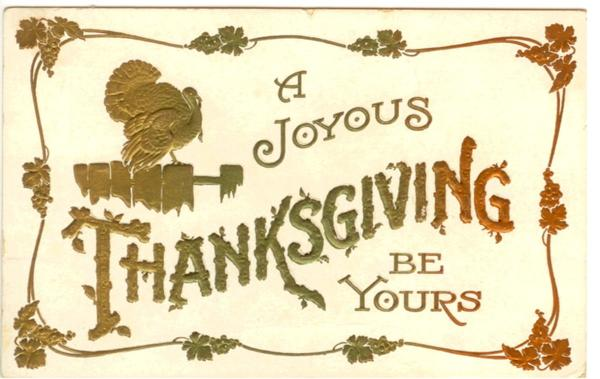 Festive start with Thanksgiving