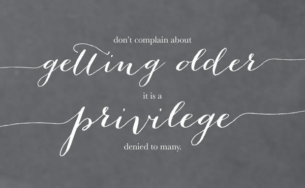 Are You Getting Old? Part 1
