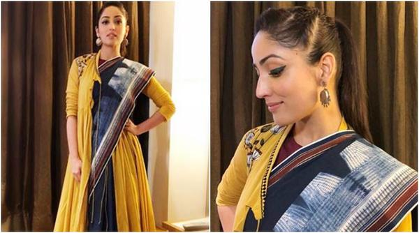 Yami Gautam in the Angrakha Sari is Elegant Glamour!!!