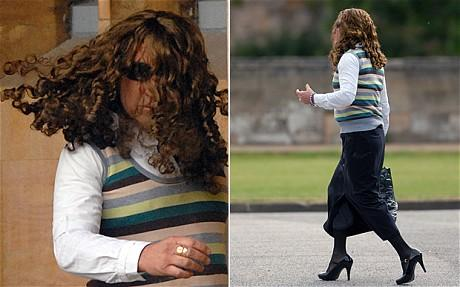 Company Director dressed as Woman tried to avoid the Press