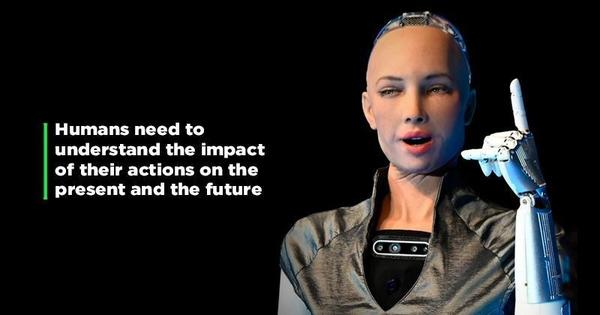 World's First Robot Citizen Sophia Attended a Conference in Indore!