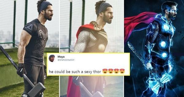Fans Turn Shahid into a Desi Thor!