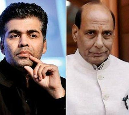 Rajnath Singh signals green light to Karan's movie.