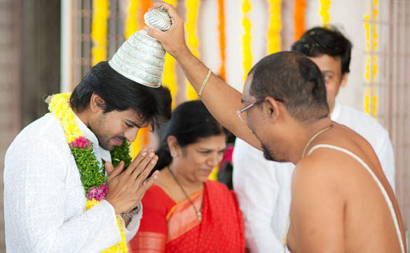 Engagement of Megastar Chiranjeevi's son Ramcharan Teja