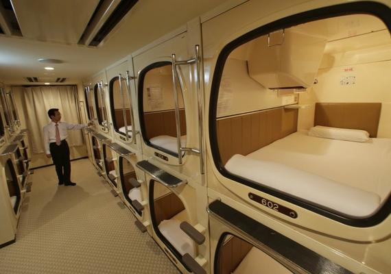 Soon You Will be Lodged in a Capsule Hotel As You Wait for Your Train!