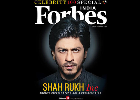 Shahrukh Is The Biggest Celebrity Brand In India!