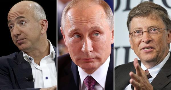 Richest Man in the World: Gates, Bezos or Putin???