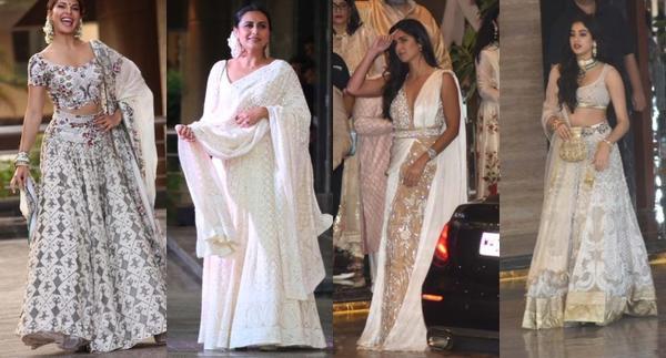 Celebs Dazzle in White at Sonam-Anand Sangeet!