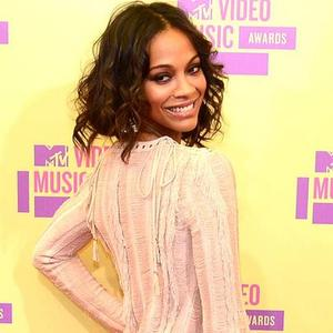 Zoe Saldana at Mtv Video Awards 2012