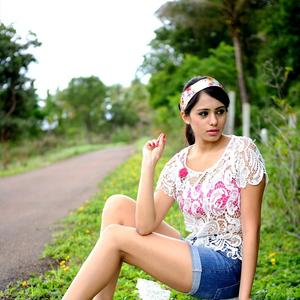 Deepa Sannidhi Hot Photoshoot Still In Mini Dress