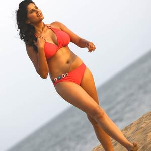 Sai Tamhankar Rose Color Bikini Sexy Shoot For No Entry Pudhe Dhoka Aahe