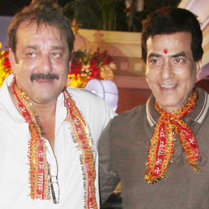 Sanjay And Jitendra Close Snap Taken During Mata Ki Chowki Event At Mumbai