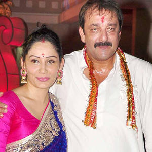 Sanjay And Manyata In Traditional Wear Still