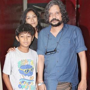 Amol Gupte With His Family At Student Of The Year Screening