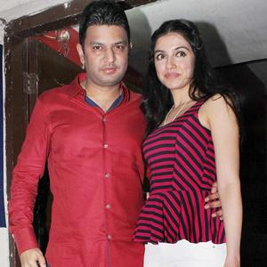 Bhushan And Divya At Student Of The Year Screening