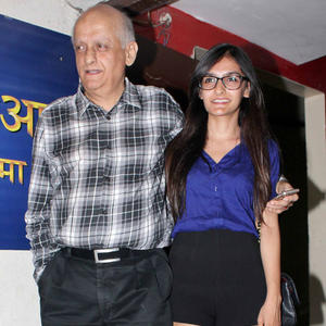 Mukesh With His Daughter Spotted At Student Of The Year Screening