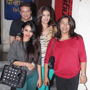 Shashi And Anu With Daughters Attend Student Of The Year Screening