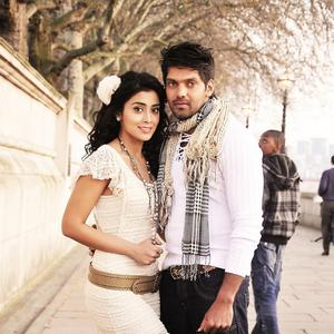 Arya And Shriya Saran In White Cute Look Still
