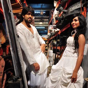 Yash And Radhika Awesome White Dress Still