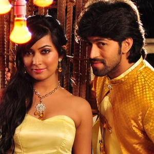 Yash And Radhika Smiling Face Look Still