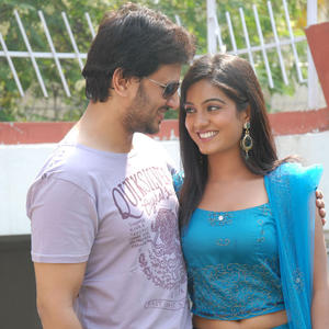 Raja And Sruthi Cute Smiling Still At Chowrastha Movie Launch
