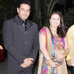 Anup With Wife Juhi Glamour Look At Wedding Party