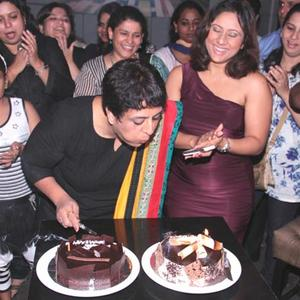 Sharbani Deodhar Cuts The Cake In Her Birthday