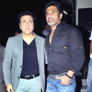 Govinda with Suniel Arrived At The Screening Of Balak Palak