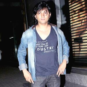 Shirish Kunder Posed For Camera At The Screening Of Balak Palak
