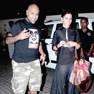 Vishal Dadlani With A Friend Attend The Screening Of Balak Palak