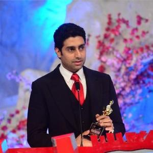 Abhishek With The Award On Stage At 19th Annual Colors Screen Awards