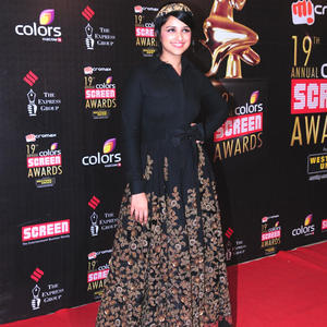 Parineeti Chopra Smiling Pose At 19th Annual Colors Screen Awards 2013