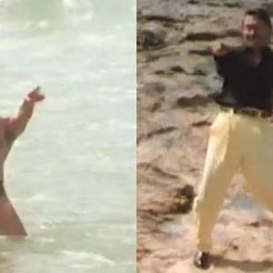 Jackie Shroff Tanha Tanha Song Still From Rangeela Movie
