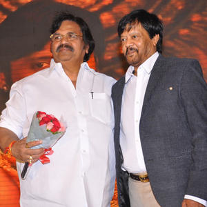 Dasari Narayana Rao And Thyagarajan Posed At Rajakota Rahasyam Audio Release Function