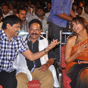 Ramesh Puppala And Lakshmi Prasanna Manchu Cool During The Rajakota Rahasyam Audio Release Function