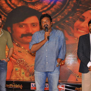 V. V. Vinayak Speaking Still And Prashanth,Thyagarajan Looks On At Rajakota Rahasyam Audio Release Function