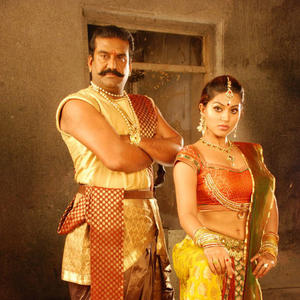 Napolean And Sneha A Still From Rajakota Rahasyam Movie