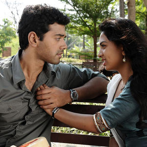 Ashwin And Srushti Latest Photo Still From Tamil Movie Megha