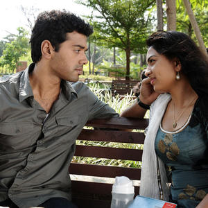 Ashwin And Srushti Love Talk Photo Still From Tamil Movie Megha