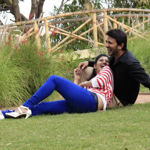 Raja And Shona Romantic Cool Look Still From Parking Movie