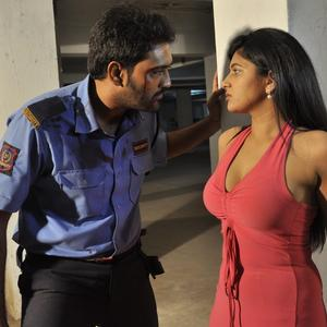 Raja And Shona A Still From Parking Movie